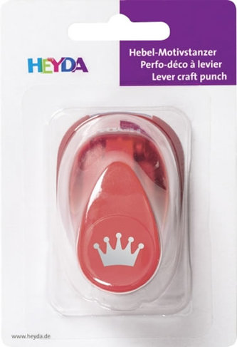 HEYDA ozdobná děrovačka velikost S - koruna  1,7 cm