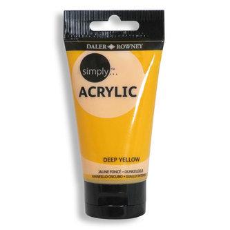 Daler - Rowney SIMPLY akrylová barva - Deep Yellow 75 ml