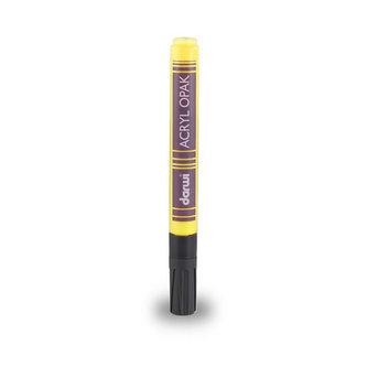 DARWI ACRYL fixa hrubá - Tmavě žlutá 6 ml