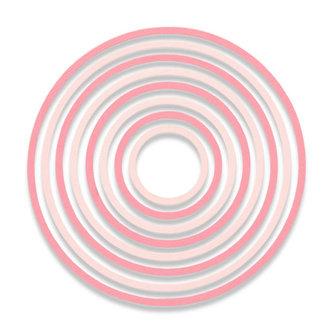 SIZZIX Thinlits vyřezávací  kovové šablony - kruhy 8 ks