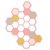SIZZIX Thinlits vyřezávací  kovové šablony - hexagony 2 ks