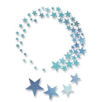 SIZZIX Thinlits vyřezávací  kovové šablony - hvězdy 5 ks