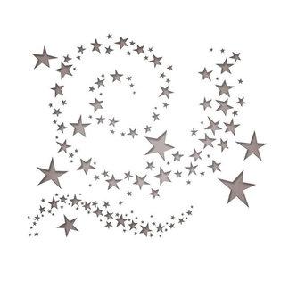 SIZZIX Thinlits vyřezávací  kovové šablony - vířící hvězdy 9 ks