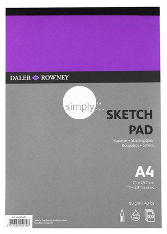 Daler - Rowney SIMPLY skicák na skicování  A4, 95 g / m2, 72 listů