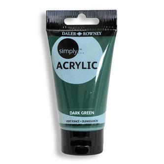 Daler - Rowney SIMPLY akrylová barva - Dark Green 75 ml