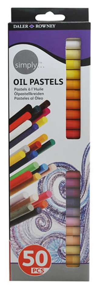 Daler - Rowney SIMPLY olejový pastel 50 ks