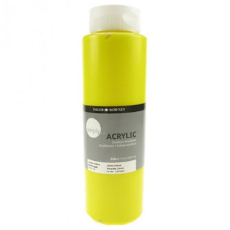 Daler - Rowney SIMPLY akrylová barva - Lemon Yellow 750 ml