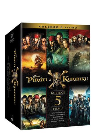 Piráti z Karibiku kolekce 1.-5. 5DVD