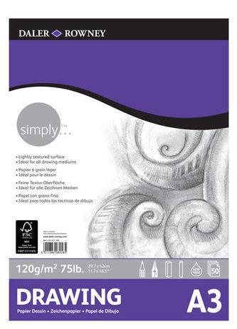 Daler - Rowney SIMPLY skicák na kreslení  A3, 120 g / m2, 50 listů