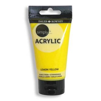 Daler - Rowney SIMPLY akrylová barva - Lemon Yellow 75 ml