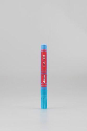 DARWI LEATHER fixy na kůži a koženku - Světle modrá 6 ml