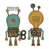 SIZZIX Thinlits vyřezávací  kovové šablony - roboti 14 ks