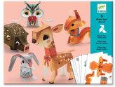 Djeco Origami skládačka Lesní zvířátka
