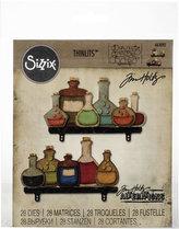 SIZZIX Thinlits vyřezávací  kovové šablony - lahve 28 ks