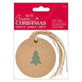 DOCRAFTS kraftová vánoční ozdoba - stromek 5 ks