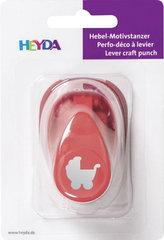 HEYDA ozdobná děrovačka velikost S - kočárek 1,7 cm