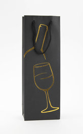 Taška lahev Černá deluxe 1 - zlat.dekor