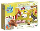 Vertikální okenní puzzle - Farma 24 dílků