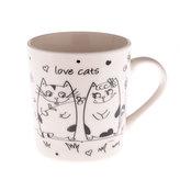 Porcelánový hrnek s kočičkami 280ml