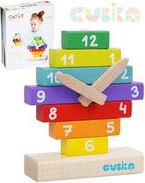 CUBIKA 14354 Hodiny s magnetickými ručičkami - dřevěná skládačka 10 dílů