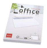 Elco bílé obálky C6 -  samolepicí s páskou s vnitřním tiskem (25 ks )
