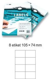 Etikety EUROLABELS - 8 etiket na A4 (100 ks), 140g