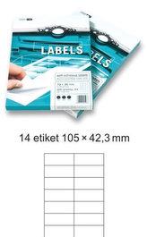 Etikety EUROLABELS - 14 etiket na A4 (100 ks), 140g