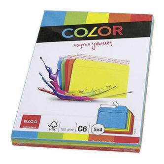Barevné obálky ELCO C6 - mix 5 barev á 4 obálky