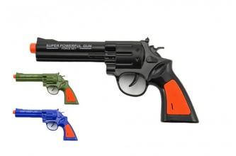 Pistole kolt plast 22cm na baterie se zvukem 3 barvy