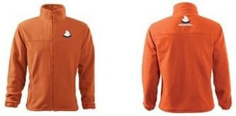 Jacket fleece pánský oranžová XL