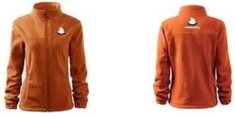 Jacket fleece dámský oranžová 2XL