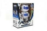 Robot RC chodící plast 20cm na baterie se světlem se zvukem v krabici 22x26x10,5cm
