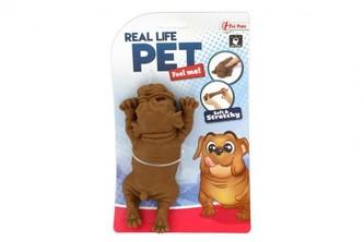 Pes antistresový guma 14cm 2 barvy v sáčku