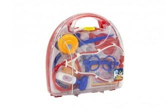 Sada doktor plast 9ks v plastovém kufříků 22x21x6cm v sáčku