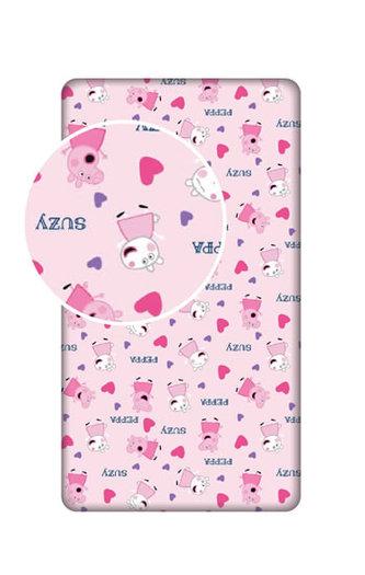 Prostěradlo - Prasátko Peppa  růžové