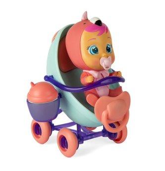 CRY BABIES Magické slzy miminko s kočárkem 16cm plast s doplňky v krabici 25x17x14cm