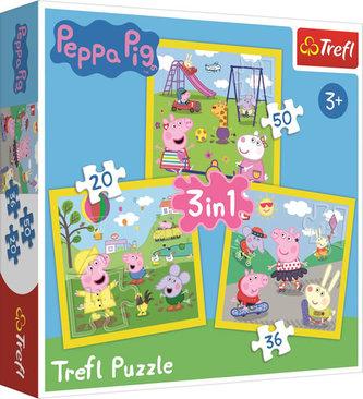 Prasátko Peppa: Puzzle 3v1 (20,36,50 dílků)