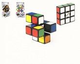 Rubikova kostka  EDGE hlavolam 3x3x1 plast 6x6x2cm na kartě