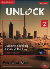Unlock Level 2 Listening, Speaking & Critical Thinking Student´s Book, Mob App and Online Workbook w/ Downloadable Audio and Video