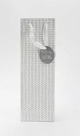 Taška lahev Glitter stříbrná
