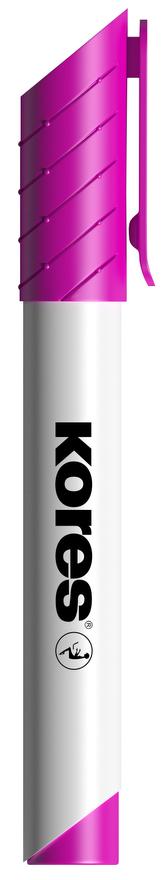 K-MARKER Popisovač na bílé tabule a flip charty, kulatý hrot 3 mm, růžový