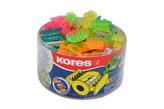 KOSMO, jednoduché plastové ořezávátko, mix 5 barev (oranžová, žlutá, modrá, zelená, růžová)