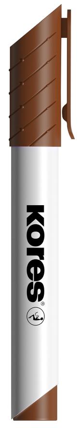 K-MARKER Popisovač na bílé tabule a flip charty, kulatý hrot 3 mm, hnědý