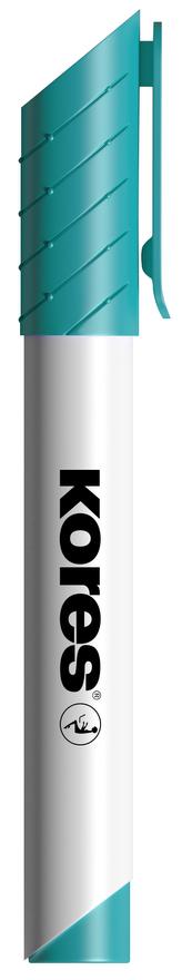 K-MARKER Popisovač na bílé tabule a flip charty, kulatý hrot 3 mm, tyrkysový