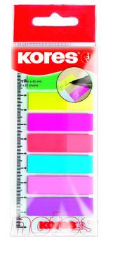 """Neonové záložky Index Strips """"Podepiš zde"""" na pravítku 45x12 mm / 8 barev / 25 lístků á barva"""