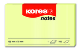 Samolepicí bločky žluté 125x75 / 100 lístků v bločku