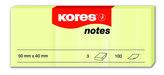 Samolepicí bločky žluté 3 ks 50x40 / 100 lístků v bločku, cena za 3 ks v balení