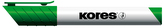 K-MARKER Popisovač na bílé tabule a flip charty, kulatý hrot 3 mm, zelený