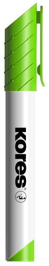 K-MARKER Popisovač na bílé tabule a flip charty, kulatý hrot 3 mm, světle zelený
