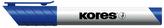 K-MARKER Popisovač na bílé tabule a flip charty, zkosený hrot 3-5 mm, modrý